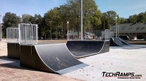 Skatepark Dąbrowa Górnicza Quarter Pipe + Bank ramp