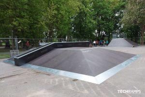 Skatepark de madera