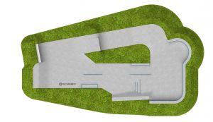 Skatepark en béton Pleszew