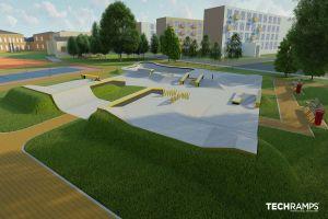 Skatepark en béton Wrocław