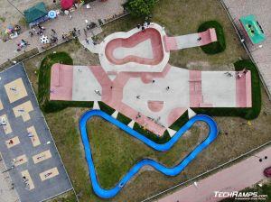 Skatepark i pumptrack - zdjęcie z drona