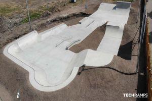Skatepark in cemento Techramps