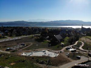 Skatepark, pumptrack, minirampa - Maniowy - plan view
