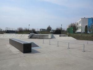 Skatepark Tarnowskie Góry - widok na przeszkody