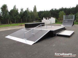 Skatepark w Białobrzegach panorama