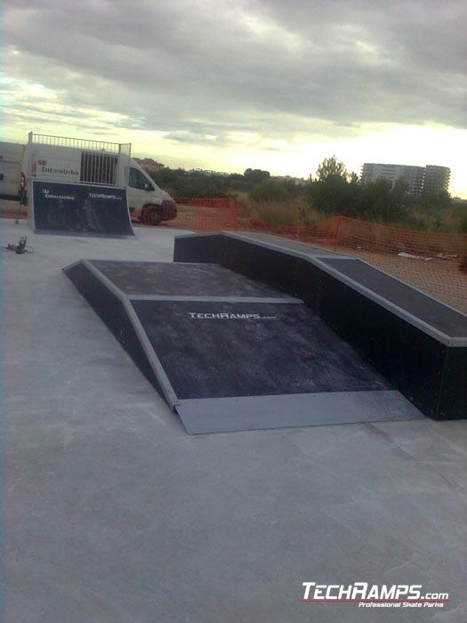 Skatepark w L'Ampolla - Hiszpania