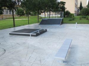 Skatepark w Opolu Lubelskim Ławka