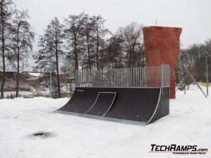 Skatepark w Szczercowie - rozbudowa quarter pipe z miniquarterem - 1