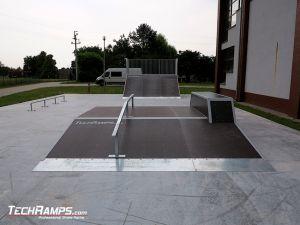 Skatepark wykonany w miejscowości Rychtal