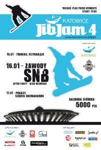 SnowPark Katowice plakat JiB Jam 4 Spodek
