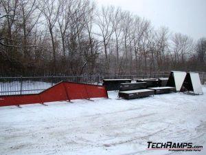 Snowpark przeszkody pod Spodek