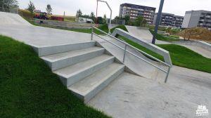 Świecie - betonowy skatepark