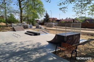 Techramps дрвен скејт -парк
