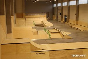 Techramps indoor skatepark