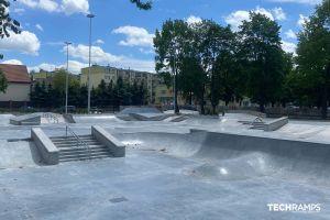 Techramps συγκεκριμένο skatepark