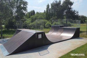 Techramps ξύλινο πάρκο skatepark