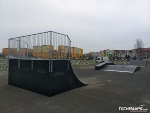 Widok na skatepark w Sieradzu