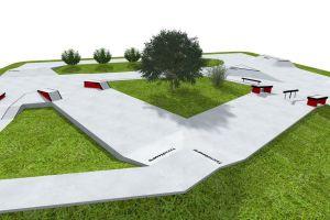 WoodCamp 2013 Skateplaza - Wizualizacja 3D