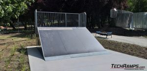 Wooden bank ramp