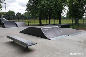 Wooden skatepark