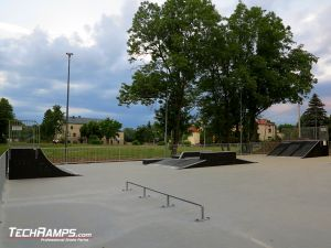 Wooden skatepark in Opatów