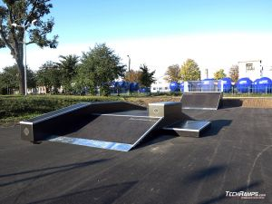 Wooden skatepark in Standard technology in Piotrkow Kujawski