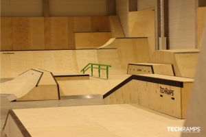 Year-round skatepark Techramps