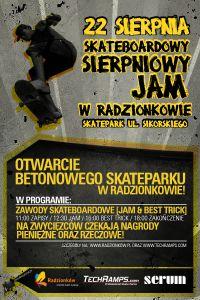 Zawody na betonowym skateparku Techramps